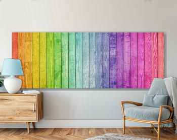 Colorful painted natural wood with grains for background, banner and texture.