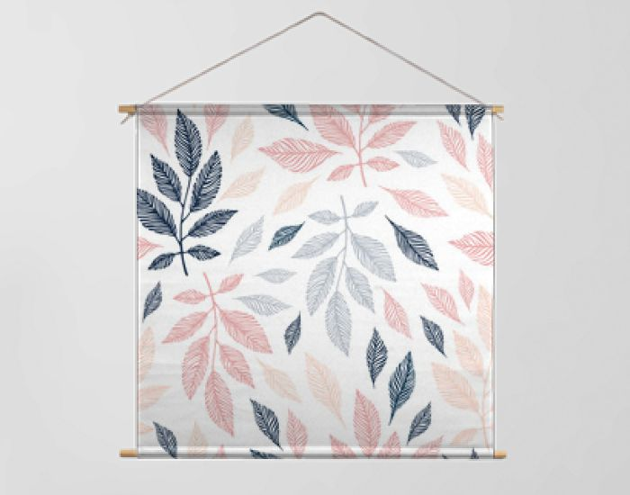 Seamless pattern with hand drawn branches.