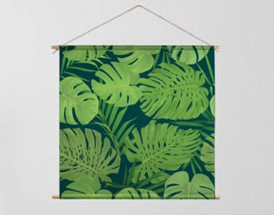 Tropical seamless pattern with palm leaves background. Vector set of exotic tropical garden for holiday invitations, greeting card and fashion design.