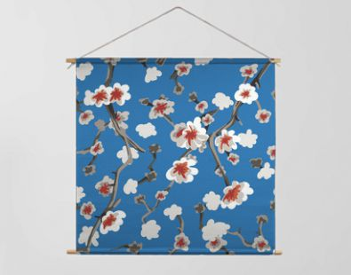 Almond Blossom Seamless Pattern Backgroung Wallpaper Repeat Artwork Floral Petals