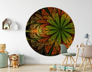 Surreal colorful and bright jungle flower