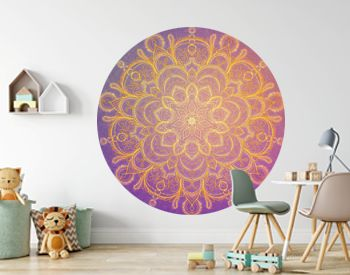 Ornamental round lace pattern Mandala with sparlles