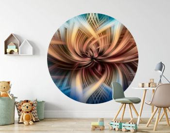 Abstract Digital Art Twirl Effect Background