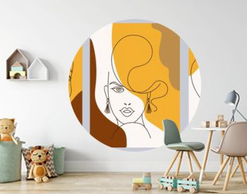 Set of creative hand painted one line abstract female portraits. Minimalist vector people icon. For postcard, poster, poster, brochure, cover design, web.