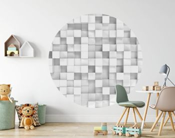 Abstract white polygonal geometric cube background