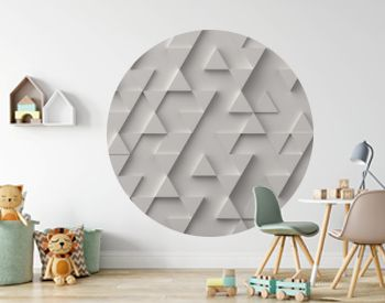 White triangle pattern backdrop background. 3D rendering.