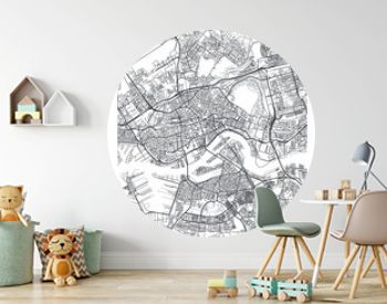 City map Rotterdam, travel vector poster design