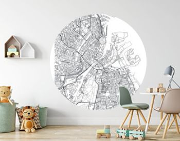 City map Copenhagen, travel vector poster design
