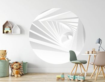 Abstract white twisted tunnel 3 d
