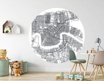 City map New Orleans, travel vector poster design