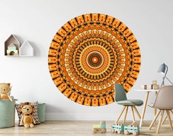 abstract creative mandala colorful background.