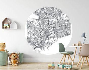 City map Singapore, travel vector poster design