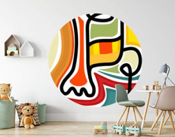 One line drawing abstract human face. Modern continuous line art tribal portrait. Ethnic style vector illustration for posters, wall decor, tote bag, t-shirt print, mobile case, cards