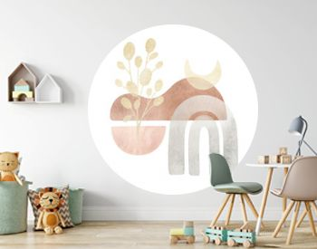 Watercolor creative minimalist hand painted composition isolated on white background. Abstract modern print, logo, for wall decoration, postcard or brochure cover design. Aesthetic trendy illustration