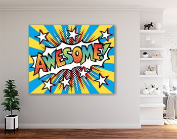AWESOME! Pop Art Text Design