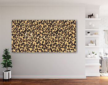 Leopard pattern. Seamless vector print. Realistic animal texture. Black and yellow spots on a beige background. leopard skin imitation can be painted on clothes or fabric.