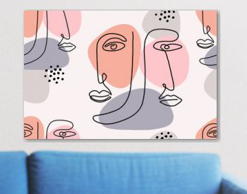 Seamless abstract pattern with face.